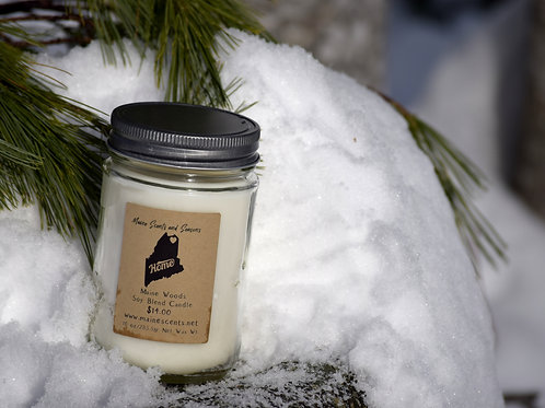 """Maine Woods """"HOME"""" Soy Blend Candle 10 oz"""