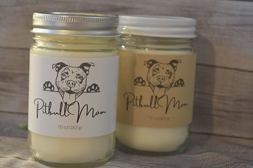 Pitbull Soy Blend Candle   Personalized   Gift For Dog Lovers