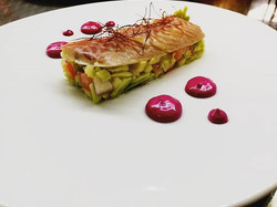 Time to dine: smoked eel with creamed be