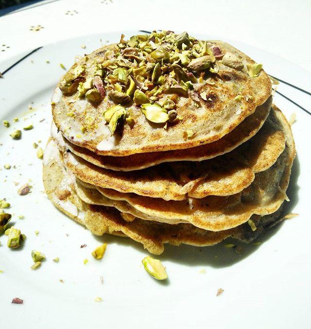 Choc chip, dairy free, buttermilk pancakes