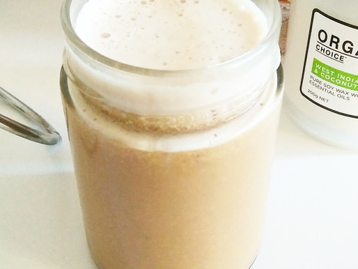 Delicious anti-inflammatory coffee, with homemade hazelnut milk