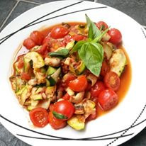 Blog Series: 10 Minute Meals.. Zucchini Pasta with Fresh Basil & Tomato