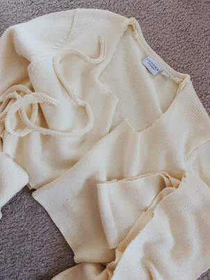 DIY Cropped Tie Sweater