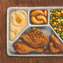 Fried Chicken TV Dinner (large)