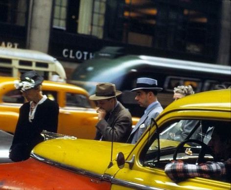 1947 and 1950 DeSoto taxicabs