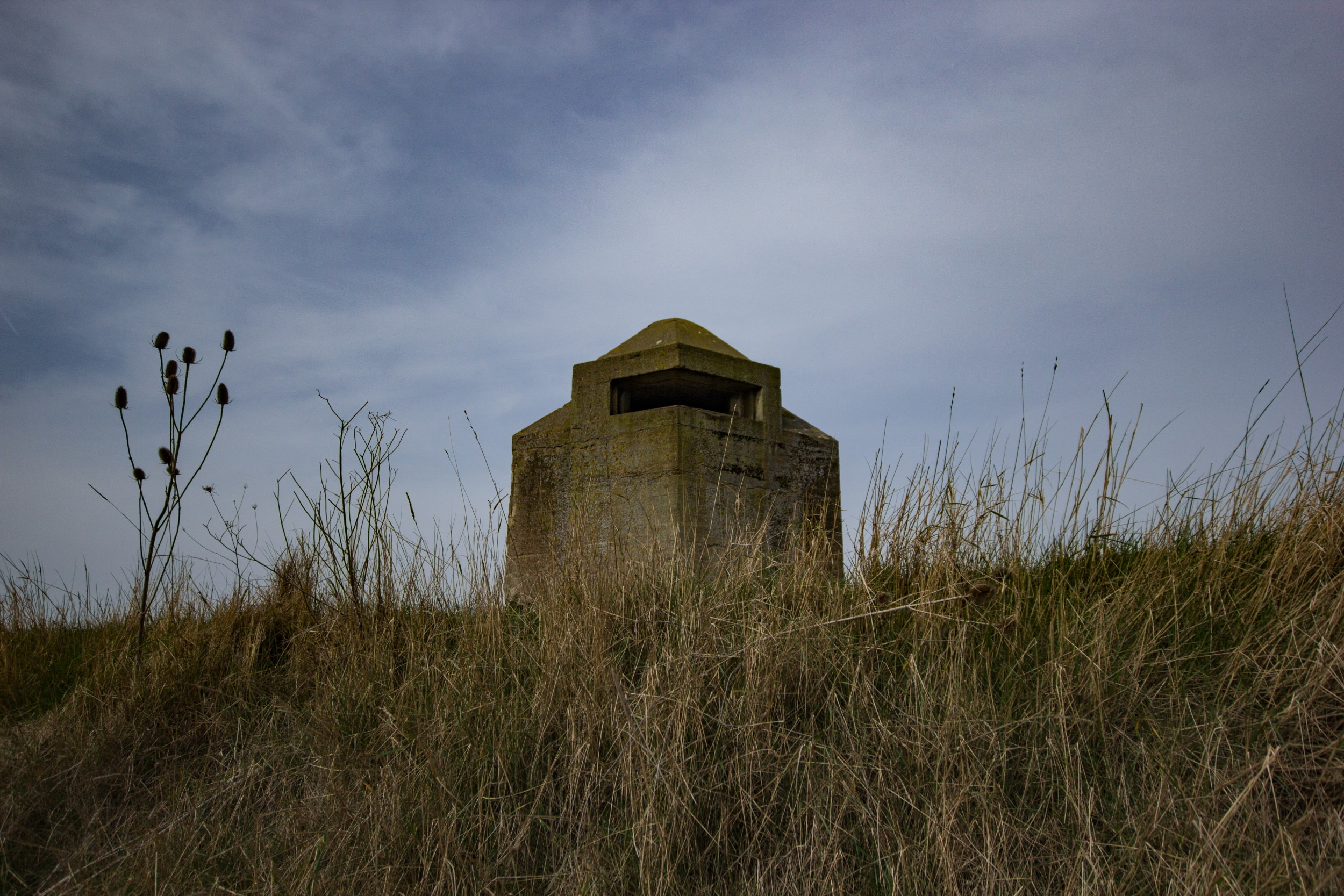 World War II minefield control tower