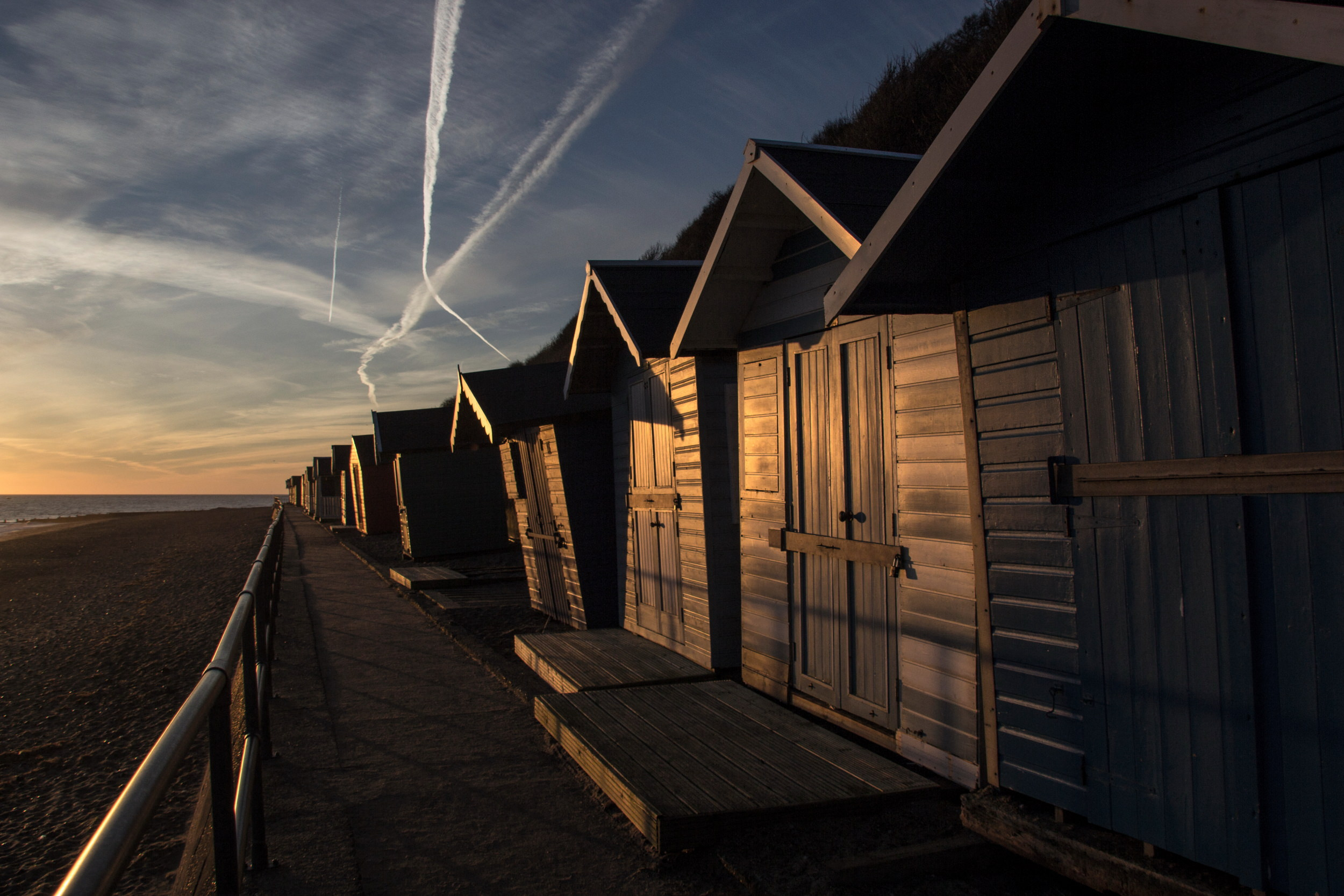 Cromer beach Huts Norfolk Coast