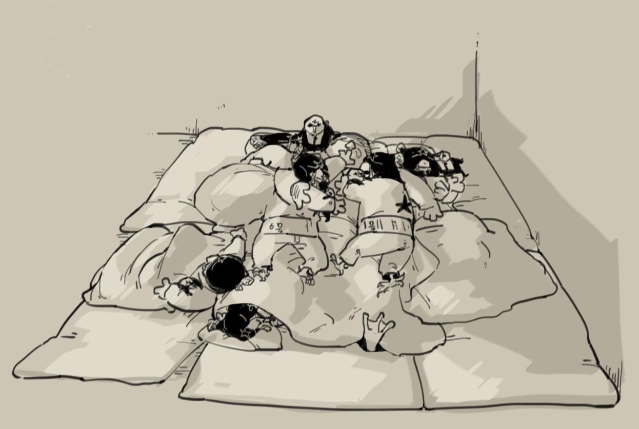 兄弟の寝床