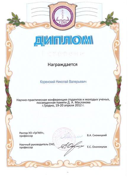 Диплом 1 ст Гродно 2012.jpg