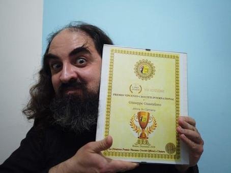"""G. Guastaferro vince il Premio Crocitti International: """"Lo dedico ai lavoratori dello spettacolo"""""""