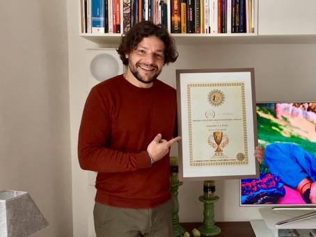 """S. La Porta vince il Premio Vincenzo Crocitti International: """"Lo dedico alle persone in difficoltà"""""""