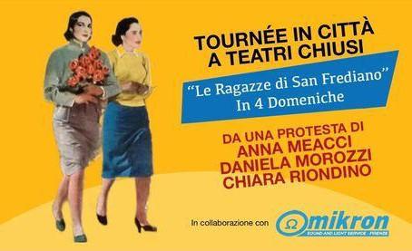 Anna Meacci, Daniela Morozzi e Chiara Riondino in tournée per protesta a teatri chiusi | INTERVISTA