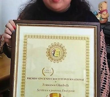 """Francesca Ghiribelli vince il Premio Vincenzo Crocitti International: """"Lo dedico a me stessa"""""""