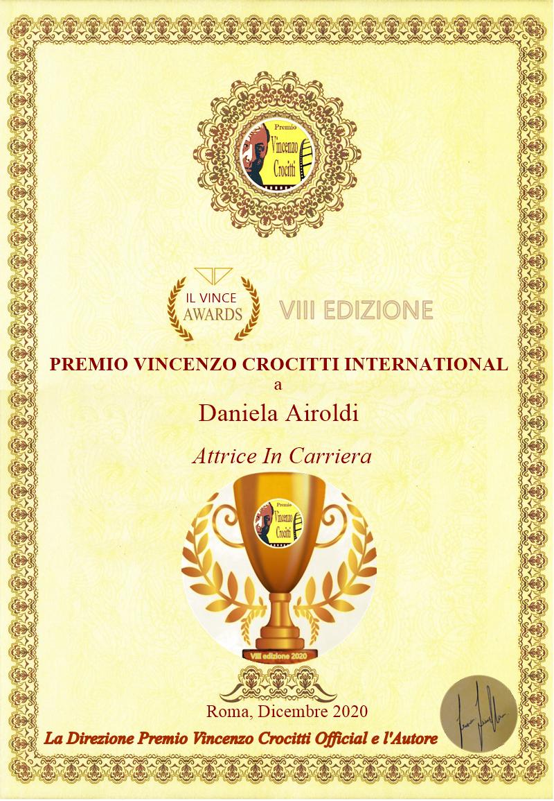 """Daniela Airoldi vince il Premio Vincenzo Crocitti International: """"Lo dedico a Lionello e Fellini""""   BySaraMorandi"""