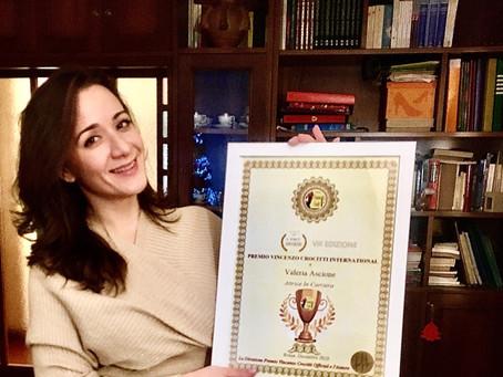 """Valeria Ascione vince il Premio Vincenzo Crocitti International: """"Lo dedico alla mia famiglia"""""""