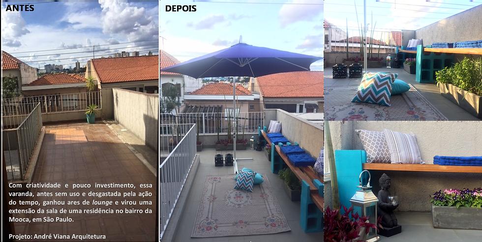 Décor Express: Confira o antes e o depois da varanda dessa residência no bairro da Mooca, em São Paulo
