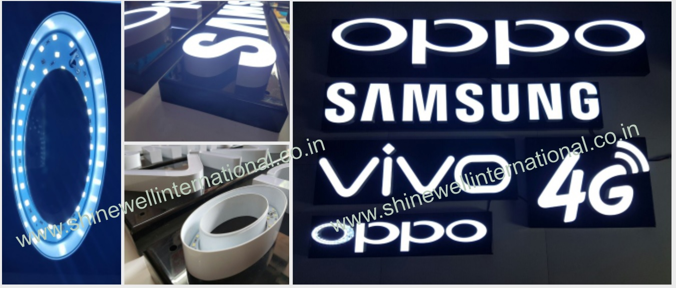 9 Channel Letters OPPO Samsung