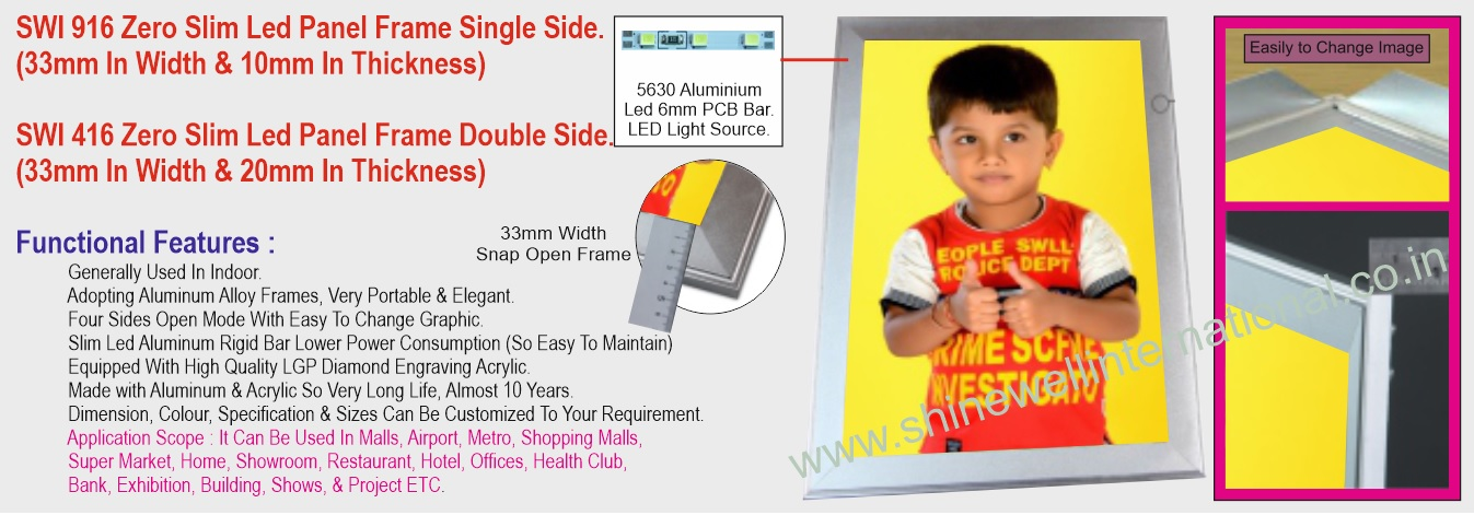 7 SWI 916 Zero Slim Led Panel Single Sid