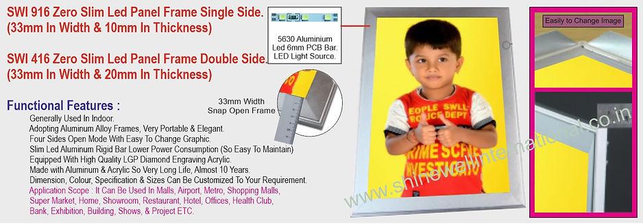 7 SWI 916 Zero Slim Led Panel Single Sid