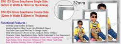 16 SWI 135 32mm Snapframe Single Side