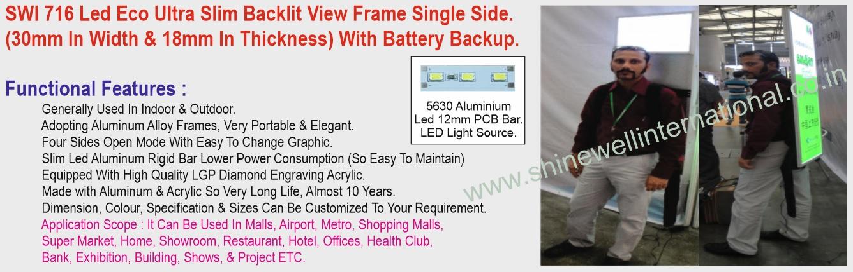 8 SWI 716 Led Eco Ultra Slim Backlit Vie