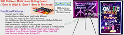 22 SWI 216 Neon Multicolour Writing Boar