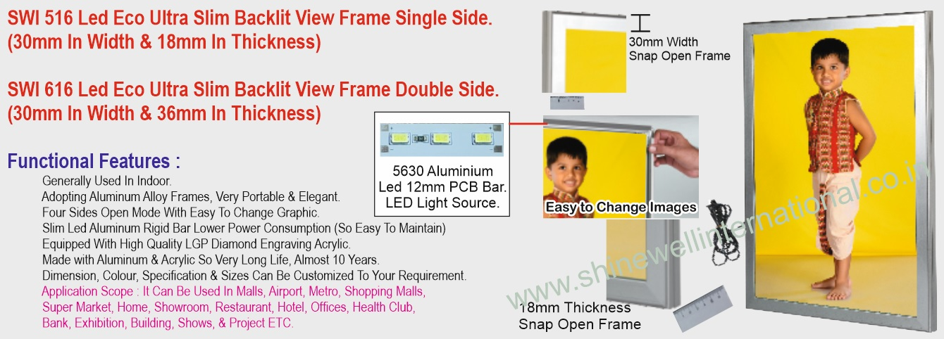 6 SWI 516 Led Eco Ultra Slim Backlit Vie
