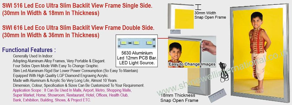 6 SWI 516 Led Eco Ultra Slim Backlit Vie