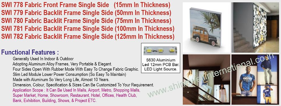 4 SWI 778 Fabric Edgelit Frame Single Si