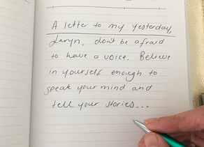 What would you write in a letter to your yesterday?