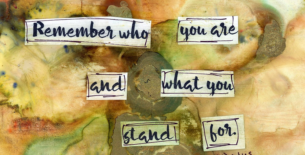5.5 x 8.5 blank journal. Remember who you are