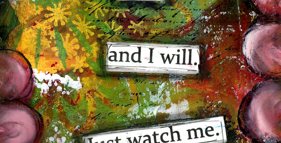 5.5 x 8.5 lined journal. I can and I will