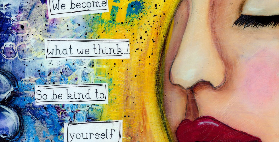 5.5 x 8.5 blank journal. We become what we think