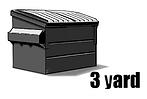 3 yard rent a bin