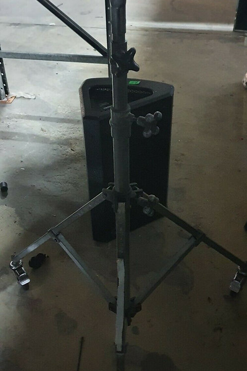 8 x Lighting Stands with Wheels - 1.5m - 3m Height