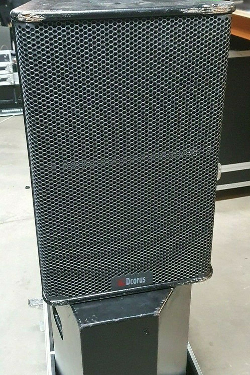 8 x PS12 12 Inch and Horn Speakers with Roadcases