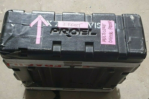 3RU Lightweight ABS Flightcase, Roadcase, Rackcase - One Lid Not Tight Fit