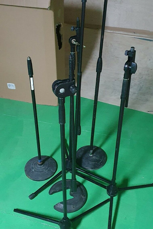 6 x Microphone Stands - Straight Round Base and Boom