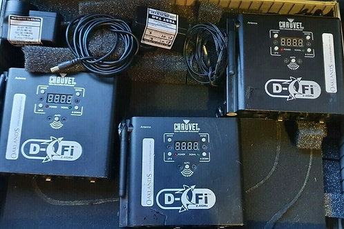Chauvet D-Fi Wireless DMX System - 3 x Transceivers (Tx and Rx)