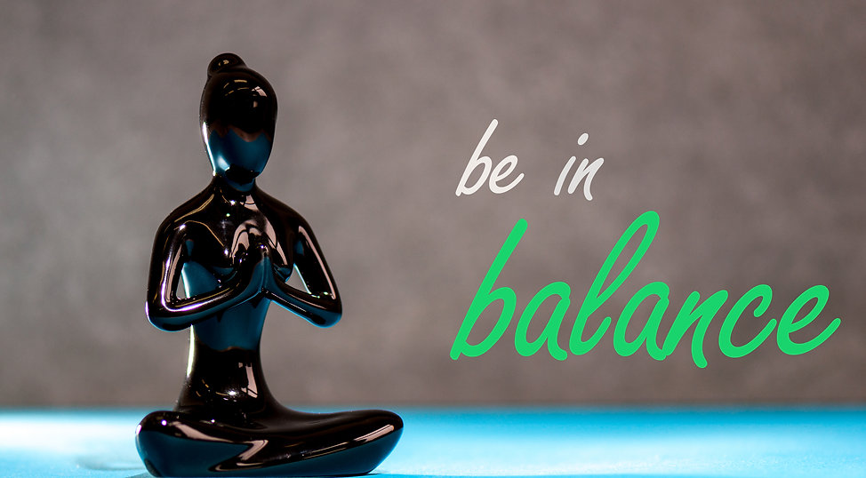 Be in balance - Yoga woman figurine life
