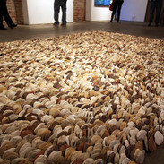 Between Hands 10,000 individually formed gestures Earthenware, stoneware, porcelain Dimensions vary 2002