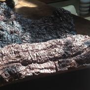 "Stone Pillow Ceramic 18"" x 5"" x 18"" 2013"