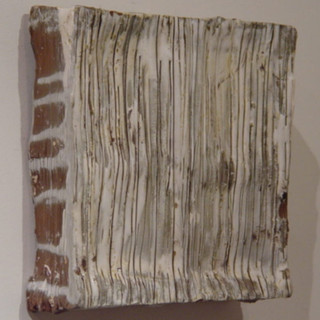 "Strip (Relief) Ceramic 13"" x13"" 2005"