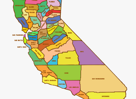 California's Counties, Then & Now