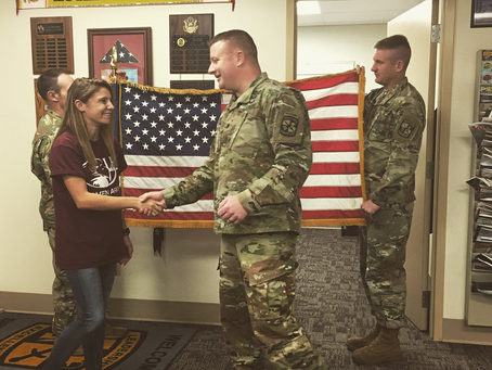Former scholarship awardee Molly Thompson headed to air assault school