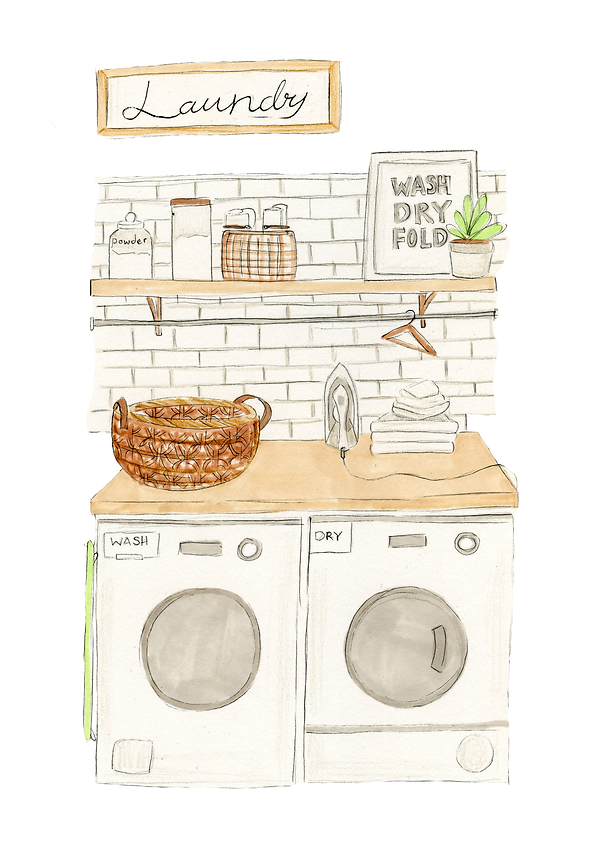 Laundry boho decor