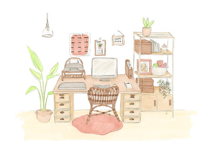 Studio desk decor