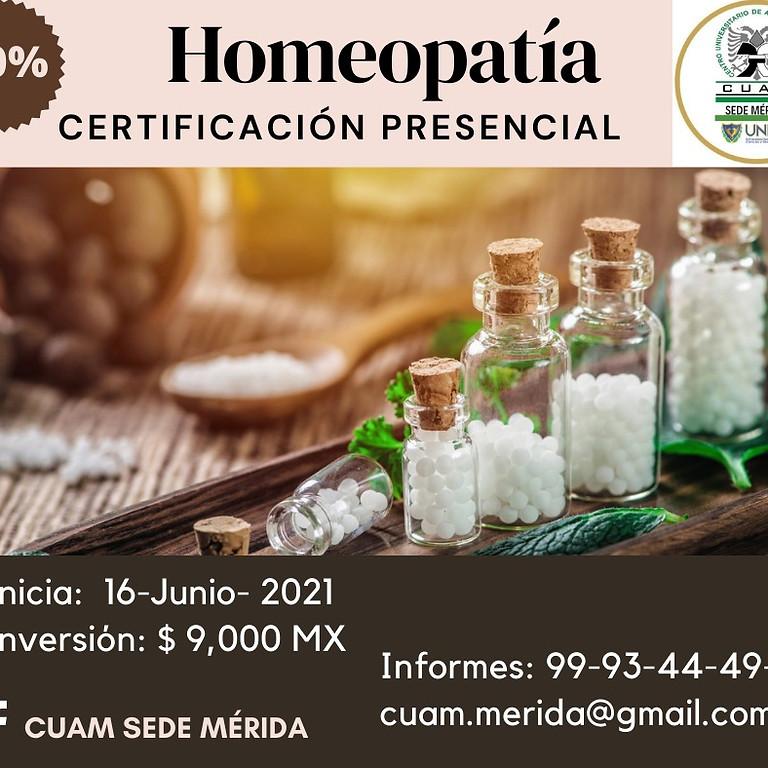 Certifiacación Homeopatia