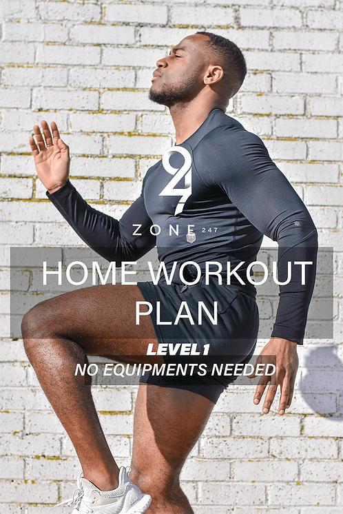 Bodyweight Home Workout Plan