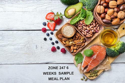 Zone 247 6 Weeks Sample Meal Plan